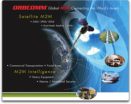 Orbcomm satellite tracking of the marine traffic